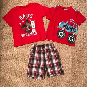Other - 3T boy's shorts and 2 shirts